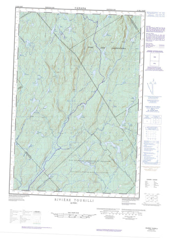 021M04E Riviere Tourilli Canadian topographic map, 1:50,000 scale