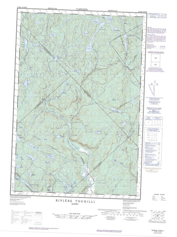 021M04W Riviere Tourilli Canadian topographic map, 1:50,000 scale