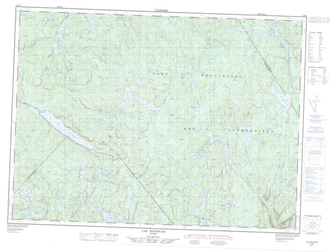 021M05 Lac Batiscan Canadian topographic map, 1:50,000 scale