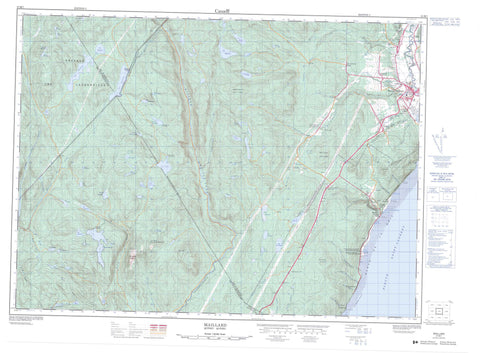 021M07 Maillard Canadian topographic map, 1:50,000 scale