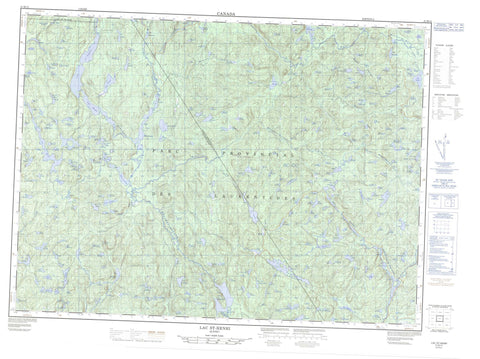 021M12 Lac St Henri Canadian topographic map, 1:50,000 scale