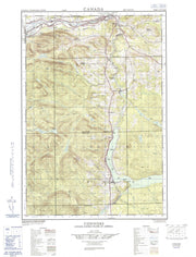 021N02E Connors Canadian topographic map, 1:50,000 scale from New Brunswick Map Store