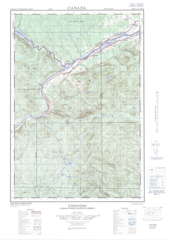 021N02W Connors Canadian topographic map, 1:50,000 scale