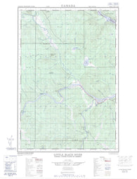 021N03E Little Black River Canadian topographic map, 1:50,000 scale
