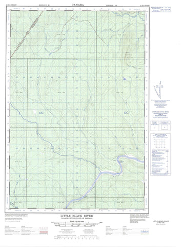021N03W Little Black River Canadian topographic map, 1:50,000 scale