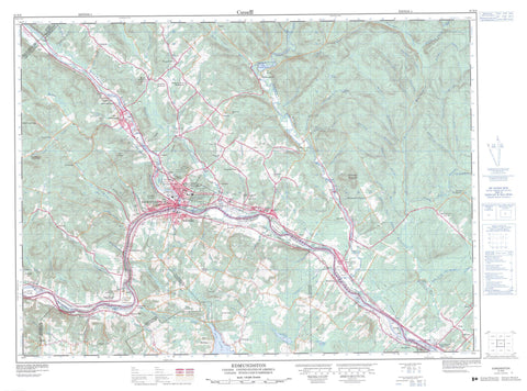 021N08 Edmundston Canadian topographic map, 1:50,000 scale