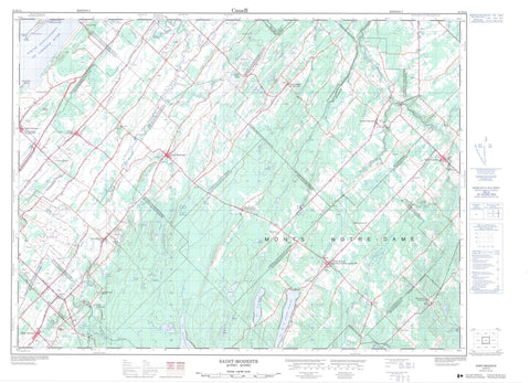 021N14 Saint Modeste Canadian topographic map, 1:50,000 scale