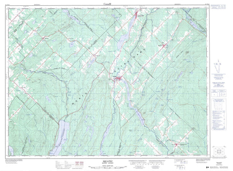 021N15 Squatec Canadian topographic map, 1:50,000 scale