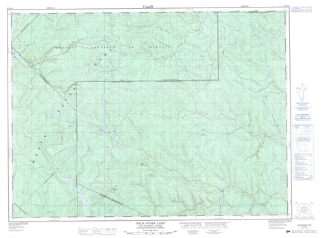 021N16 Wild Goose Lake Canadian topographic map, 1:50,000 scale