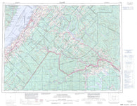 021N Edmundston Canadian topographic map, 1:250,000 scale