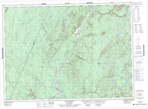 021O03 Riley Brook Canadian topographic map, 1:50,000 scale