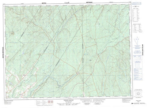 021O05 Grand River Canadian topographic map, 1:50,000 scale