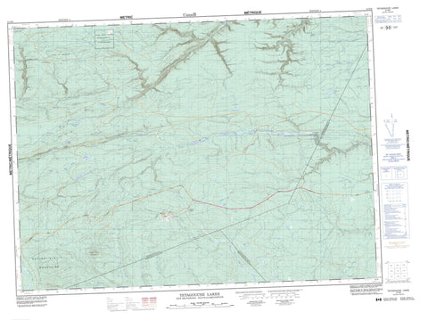 021O09 Tetagouche Lakes Canadian topographic map, 1:50,000 scale