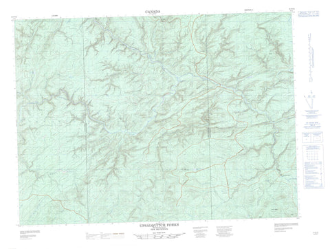 021O10 Upsalquitch Forks Canadian topographic map, 1:50,000 scale