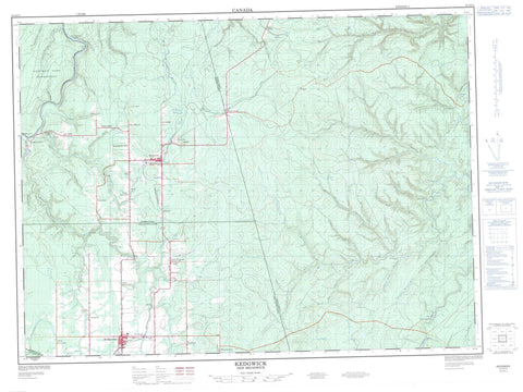 021O11 Kedgwick Canadian topographic map, 1:50,000 scale