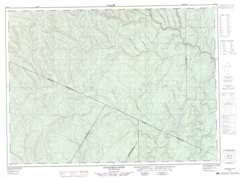 021O12 Gounamitz River Canadian topographic map, 1:50,000 scale