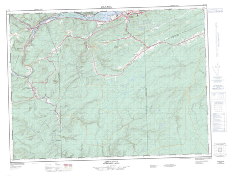 021O15 Atholville Canadian topographic map, 1:50,000 scale