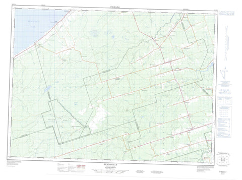 021P11 Burnsville Canadian topographic map, 1:50,000 scale