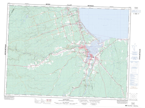 021P12 Bathurst Canadian topographic map, 1:50,000 scale
