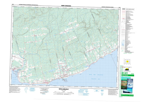 022A03 New Carlisle Canadian topographic map, 1:50,000 scale