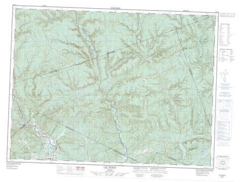 022A05 Lac Mckay Canadian topographic map, 1:50,000 scale