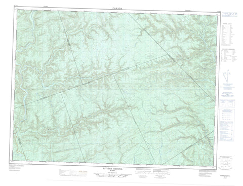 022A06 Riviere Reboul Canadian topographic map, 1:50,000 scale