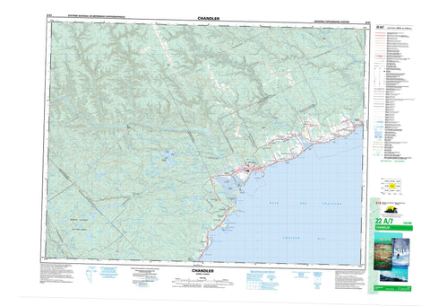 022A07 Chandler Canadian topographic map, 1:50,000 scale