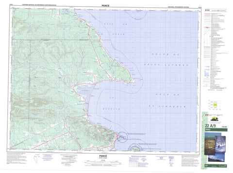 022A09 Perce Canadian topographic map, 1:50,000 scale