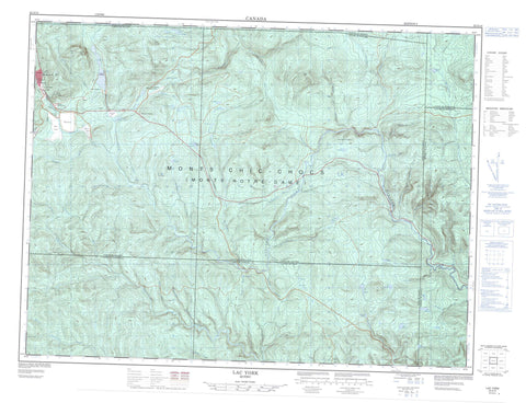 022A14 Lac York Canadian topographic map, 1:50,000 scale