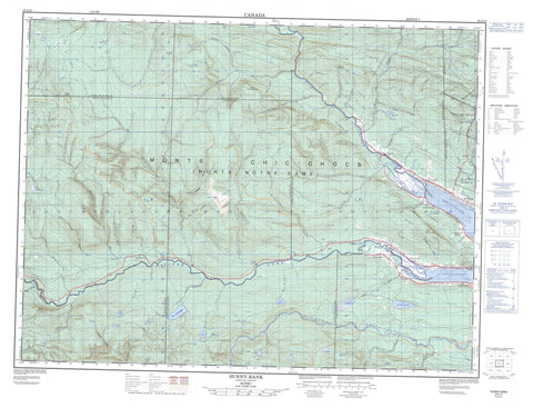 022A15 Sunny Bank Canadian topographic map, 1:50,000 scale