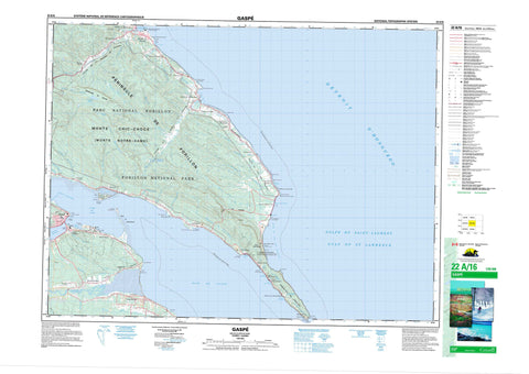 022A16 Gaspe Canadian topographic map, 1:50,000 scale