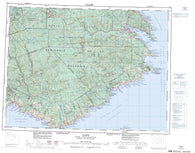 022A Gaspe Canadian topographic map, 1:250,000 scale
