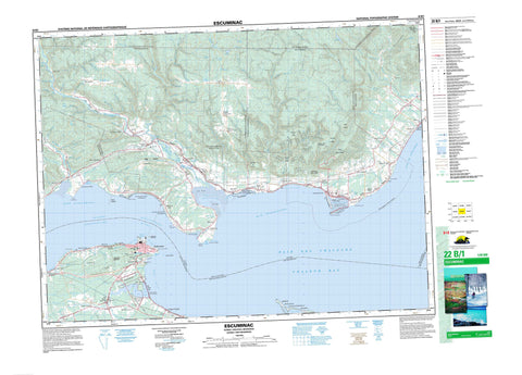 022B01 Escuminac Canadian topographic map, 1:50,000 scale