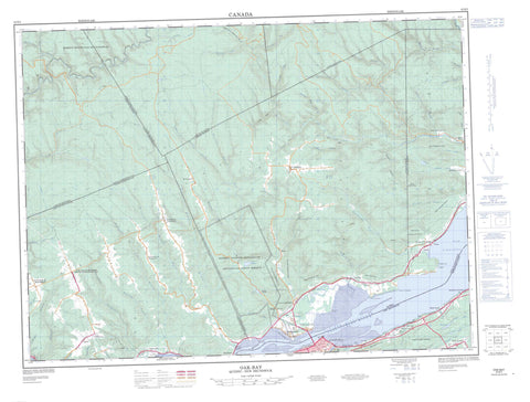 022B02 Oak Bay Canadian topographic map, 1:50,000 scale