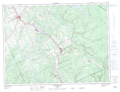 022B06 Causapscal Canadian topographic map, 1:50,000 scale