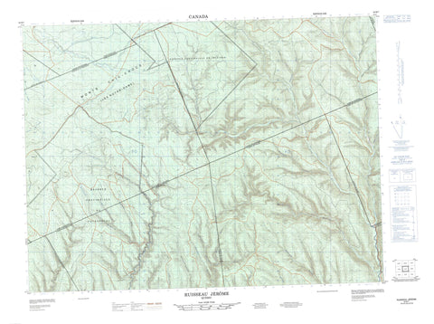 022B07 Ruisseau Jerome Canadian topographic map, 1:50,000 scale