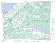 022B12 Sayabec Canadian topographic map, 1:50,000 scale