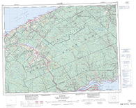 022B Matane Canadian topographic map, 1:250,000 scale