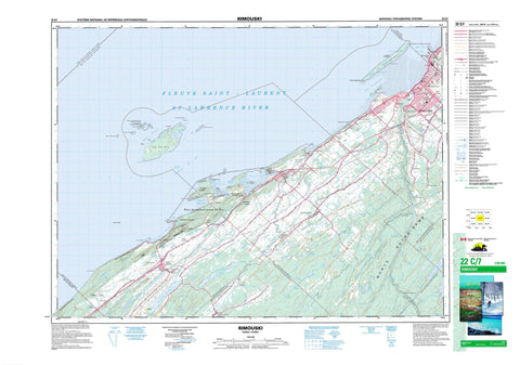022C07 Rimouski Canadian topographic map, 1:50,000 scale