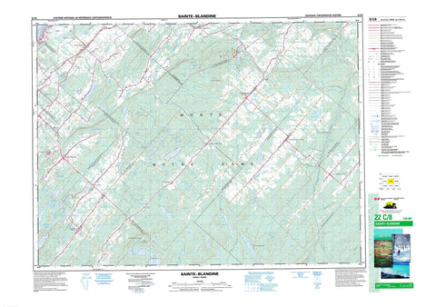 022C08 Sainte Blandine Canadian topographic map, 1:50,000 scale