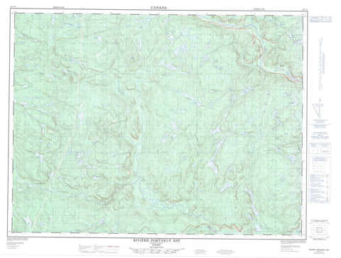 022C13 Riviere Portneuf Est Canadian topographic map, 1:50,000 scale