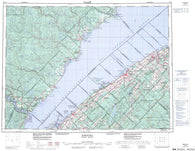 022C Rimouski Canadian topographic map, 1:250,000 scale