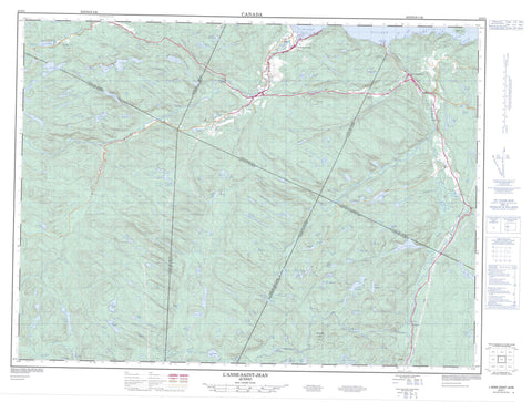 022D01 L Anse St Jean Canadian topographic map, 1:50,000 scale