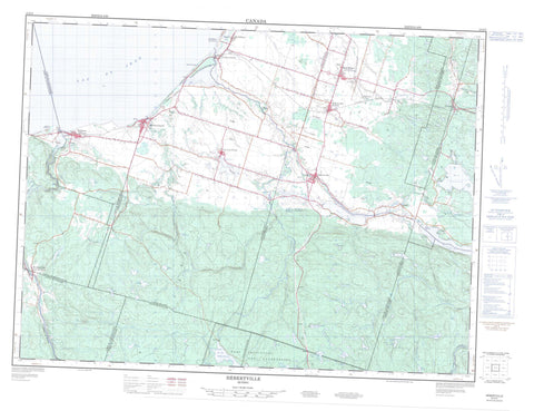 022D05 Hebertville Canadian topographic map, 1:50,000 scale