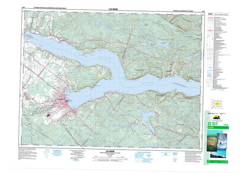 022D07 La Baie Canadian topographic map, 1:50,000 scale