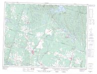 022D11 Saint Ambroise Canadian topographic map, 1:50,000 scale