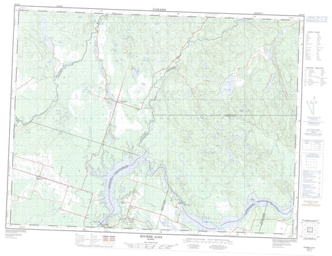 022D13 Riviere Alex Canadian topographic map, 1:50,000 scale