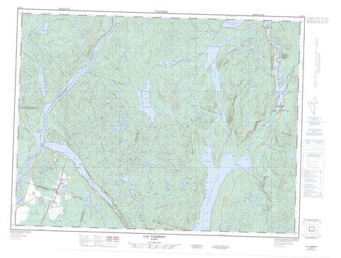 022D14 Lac Vermont Canadian topographic map, 1:50,000 scale