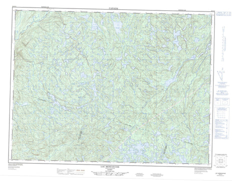 022D15 Lac Moncouche Canadian topographic map, 1:50,000 scale