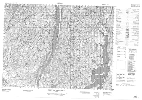 022E03 Petit Lac Onatchiway Canadian topographic map, 1:50,000 scale
